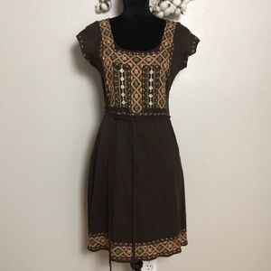 🎃 Lucky Brand Embroidered Peasant Dress